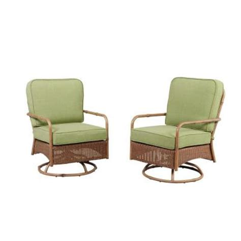 Patio Lounge Chairs Home Depot Hton Bay Clairborne Motion Patio Lounge Chair With Moss