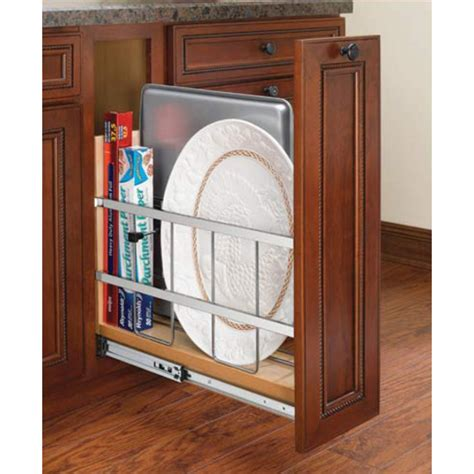 foil kitchen cabinets kitchen base cabinet foil wrap holder tray divider available in 2 sizes by rev a shelf