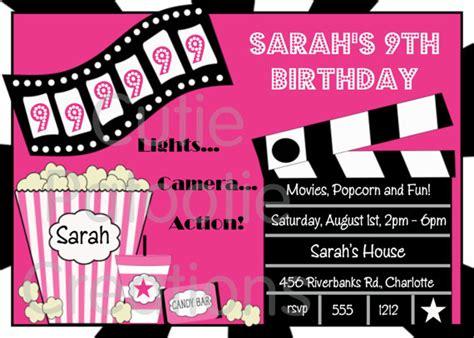 free printable birthday invitations movie theme www