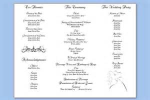 free downloadable wedding program template that can be printed three column wedding program template wedding programs