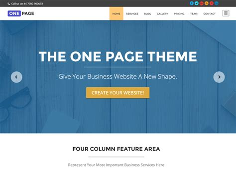 enfold theme one page website theme directory free wordpress themes