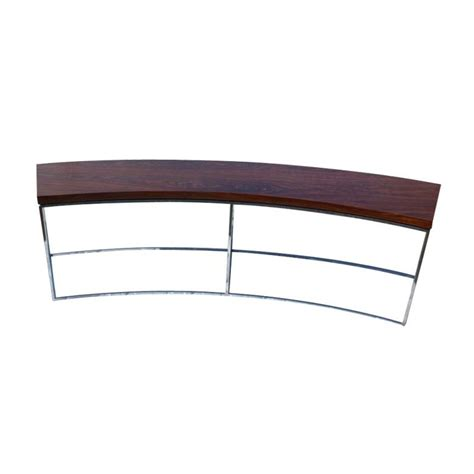 Curved Sofa Table Milo Baughman For Thayer Coggin Curved Sofa Table Bench At 1stdibs