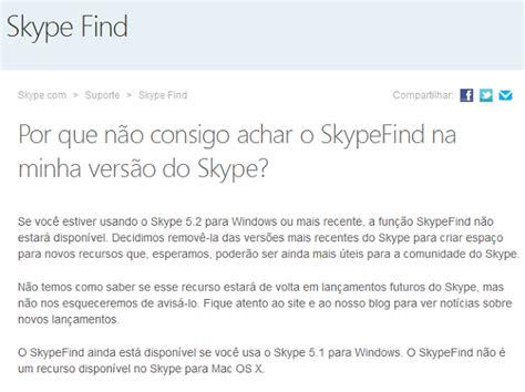 Skype Find O Que 233 Skype Find Veja Como Funciona Esta Ferramenta Do Skype Dicas E Tutoriais