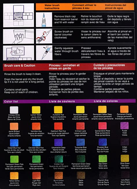 Sale Koi Water Color Pocket Set 30 koi watercolors 30 color pocket field sketch box