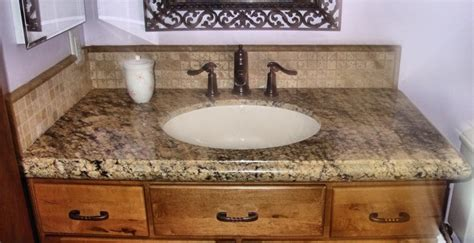 photos of granite countertops in bathroom