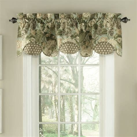 Valance Curtains For Kitchen Kitchen Extraordinary Waverly Kitchen Curtains Waverly Imperial Dress Valance Waverly Valances