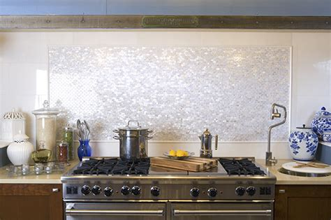 groutless kitchen backsplash white groutless brick of pearl shell tile
