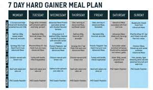 meal plan 7 day hard gainer phd supplements