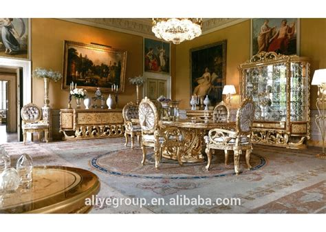 Dining Room Furniture Luxury Luxury Style Gold Leaf Dining Room Furniture