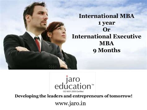 Unf Global Mba Tuition by International Mba From Jaro Education