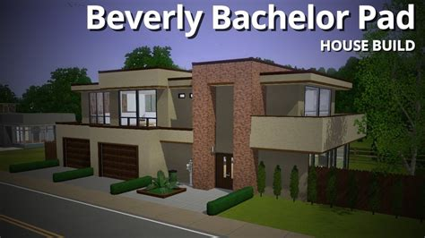 The Sims 3 House Building   Beverly Bachelor Pad (Base