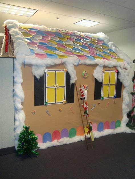 gingerbread house office cubicle decorations 7 best decoration ideas for cubicles images on cubicle ideas prop and