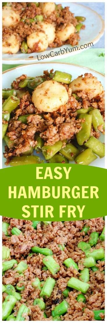 carbohydrates green beans easy hamburger green bean stir fry low in carbs low