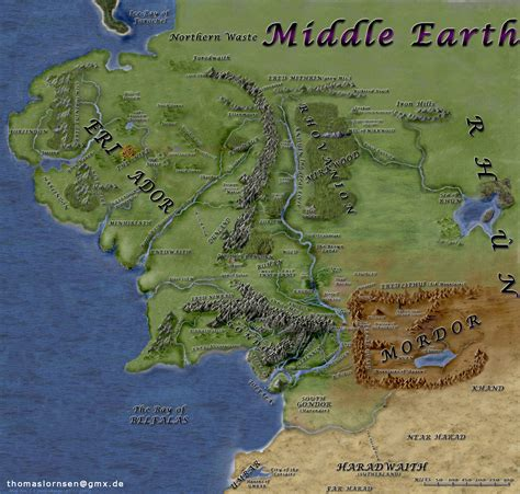 entire middle earth map middle earth