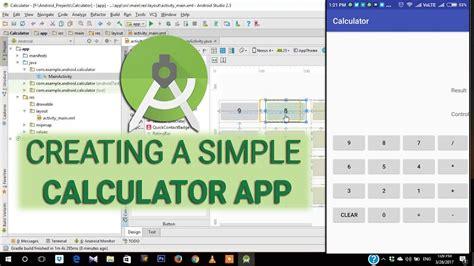 android studio calculator layout calculator app tutorial e01 creating a simple calculator