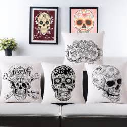 skull home decor vintage mexican skull cushion covers for sofa home decor