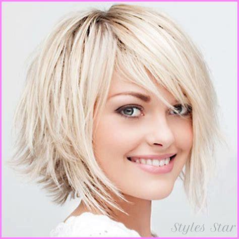 choppy bob haircut for thin hair womens medium haircuts for fine hair stylesstar com