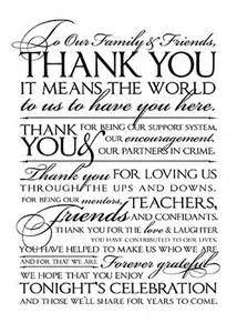 thank you letter to special friend wedding thank you letter to friends and family thank you letters