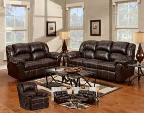 leather recliner sofa set brown bonded leather modern reclining sofa loveseat set