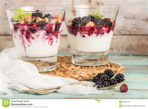 Desert Detox by Yogurt Desert Stock Photo Image Of Dewberry Glass Detox