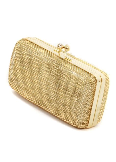 Clutch Bag gold mesh clutch bag gold evening bag gold handbags