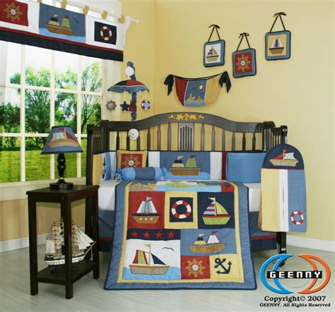 Sailor Crib Bedding Geenny Boy Sailor Baby Bedding Collection Baby Bedding And Accessories