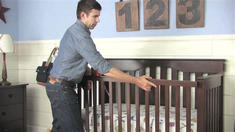 crib to bed age how to convert a kendall crib into a toddler bed pottery