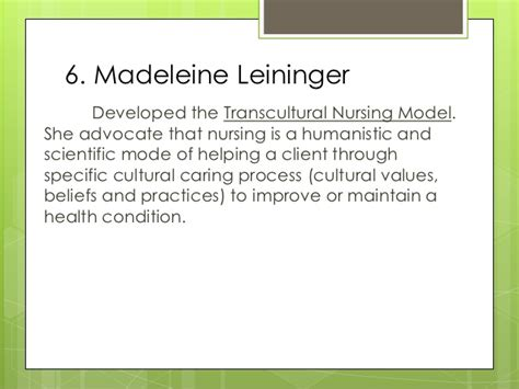 madeleine leininger transcultural nursing theory nursing theories and frameworks ppt