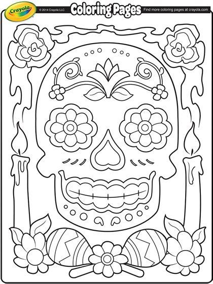 coloring pages of dia de los muertos dia de los muertos coloring page crayola com