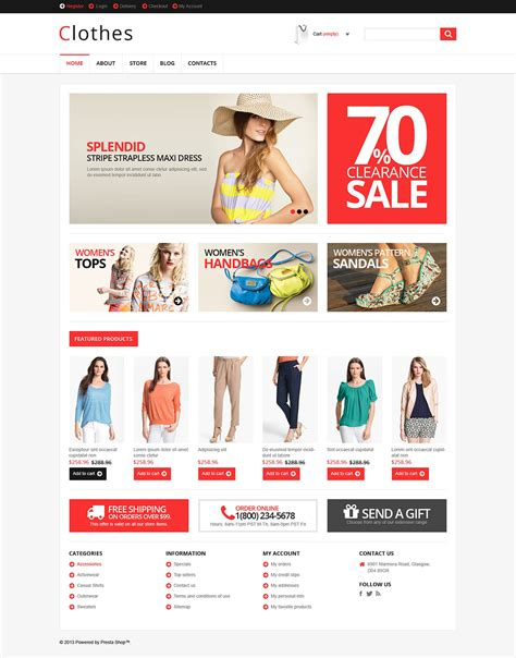 responsive clothes store jigoshop theme 46432