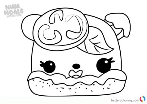Coloring Page Num Noms by Margo Num Noms Coloring Pages Free Printable