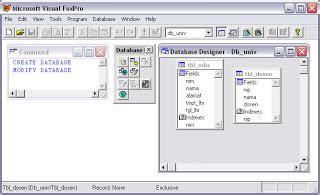 belajar membuat database xp belajar foxpro membuat database dan tabel yunicute503