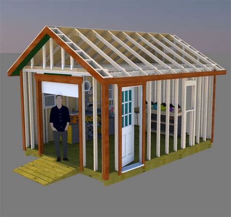 gable storage shed plans  roll  shed door