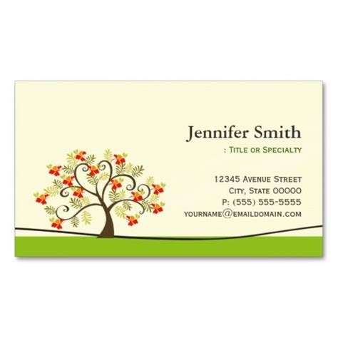 symbols business card templates swirl wish tree symbol appointment business card