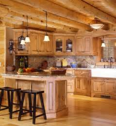 Log Home Kitchen Designs by Log Cabin Kitchens With Modern And Rustic Style