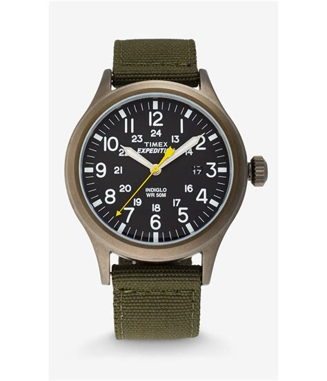 express timex expedition scout in green for lyst