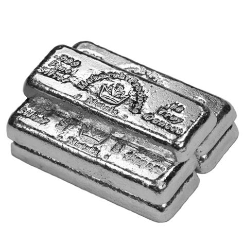 10 oz silver bars for sale buy 10 oz monarch precious metals poured silver bars