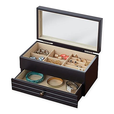 Jewelry Box Bed Bath And Beyond by Jewelry Box In Black Bed Bath Beyond