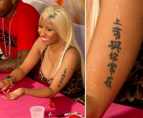 nicki minaj tattoos top 10 tattoos top inspired
