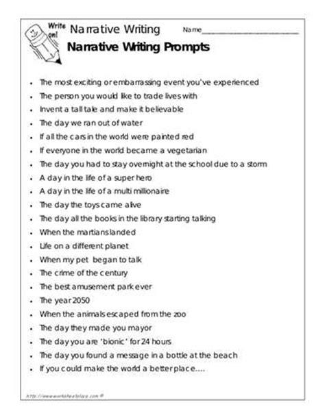 Easy Narrative Essay Topics narrative essay prompts for elementary school