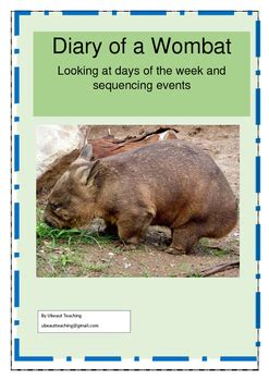 0007212070 diary of a wombat diary of a wombat by jackie french by u beaut teaching tpt