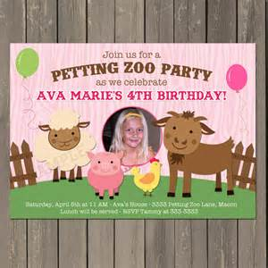 petting zoo invitation farm birthday invitation in
