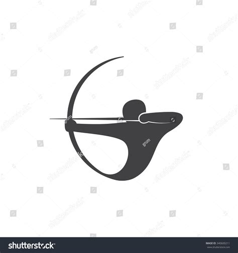 abstract logo template archer vector illustration stock