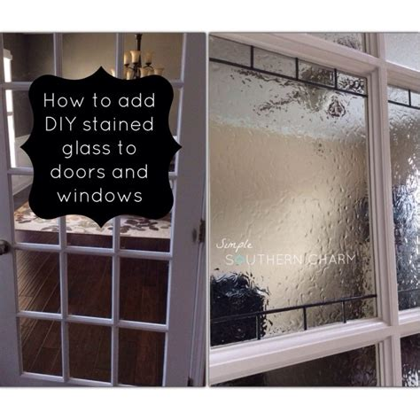 Fenster Sichtschutz Diy by Hometalk Diy Stained Glass For Privacy On Doors And Windows