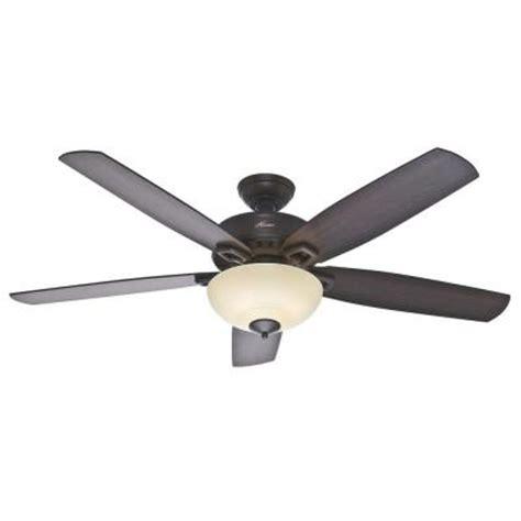 hunter groveland ceiling fan hunter groveland 60 in premier bronze ceiling fan 54125