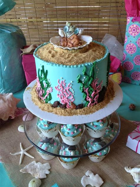 Baby Shower The Sea Theme by Sea Theme Baby Shower Cake For The Sea