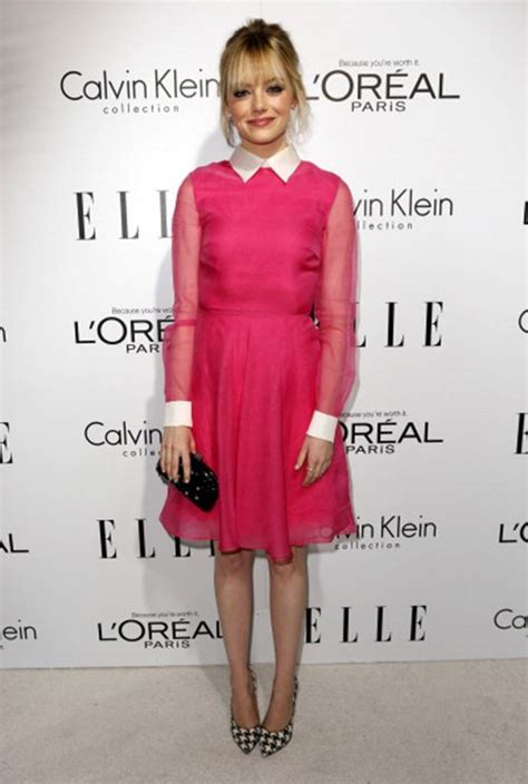 emma stone pink dress 2012 elle women in hollywood party what did she wear