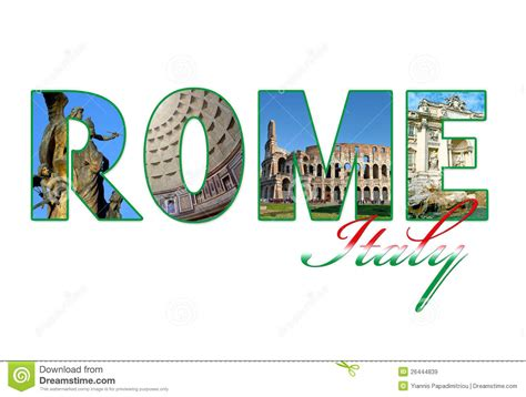 lettere roma 3 letters with photos of rome city stock image image 26444839