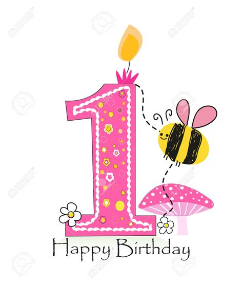 happy 1st birthday girl clipart clipartxtras