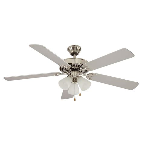 in ceiling fans home depot casablanca tribeca 52 in indoor brushed nickel ceiling